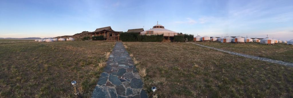 The 3 Camel Lodge - panoramic view using the iPhone