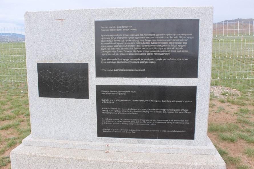 Ushigin Uver contains 15 bronze age deer stones