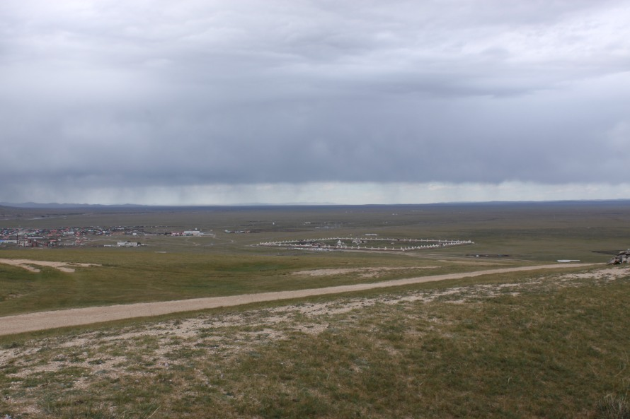 Erdene Zu monastery viewed from the Turtle rock - what a symmetry