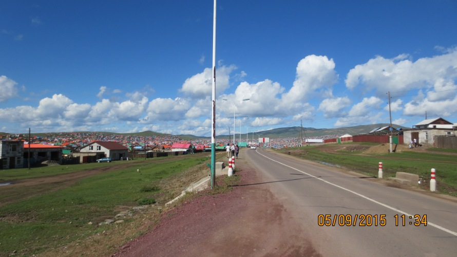 Erdenet town as we were leaving it ..