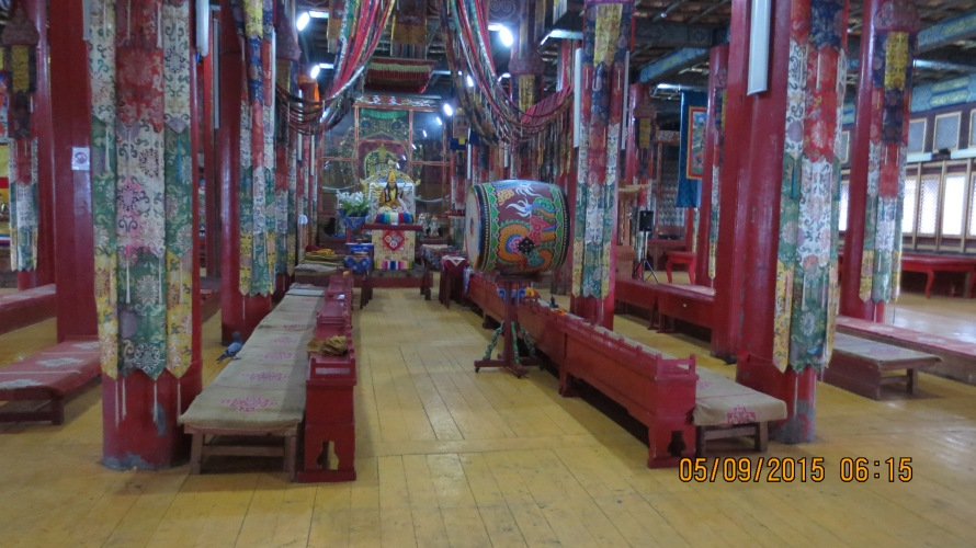 This monastery is not maintained very well, but is still very colourful and stunning to look at