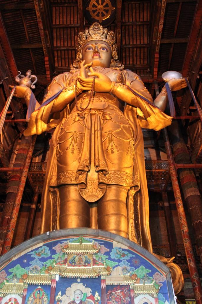 Massive statue of the Buddha, Gandan Monastery