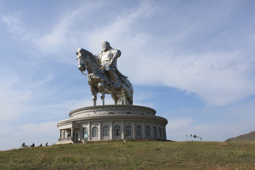 40 metre high statue of Chinggis Khan made of steel. As great as the man !!