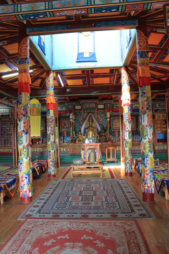 The temple is very colourful and very peaceful