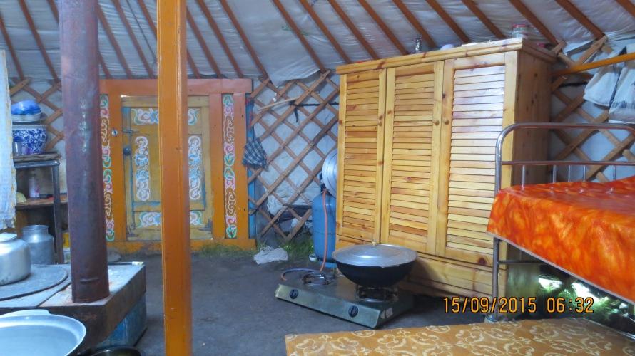Inside a nomadic family's Ger ...