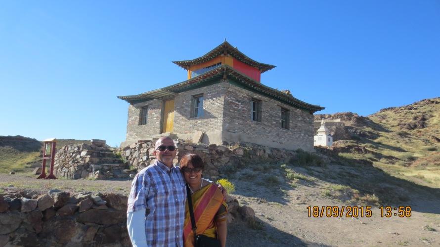 The rebuilt temple