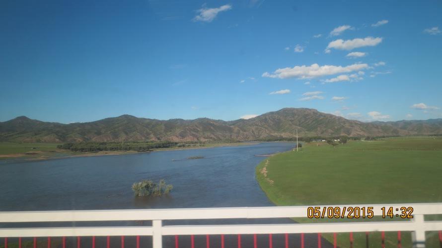 Selenge River on the way to Ikh Uul camp, Bulgan province