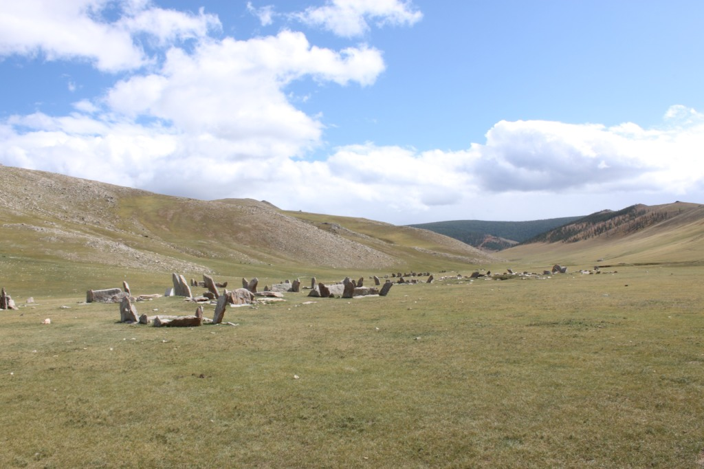 The bronze age Steeles (burial sites) at Orkhon Valley