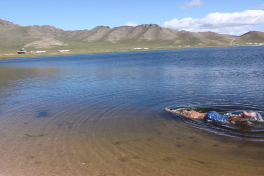 Krishnan swam in the White lake as well :)