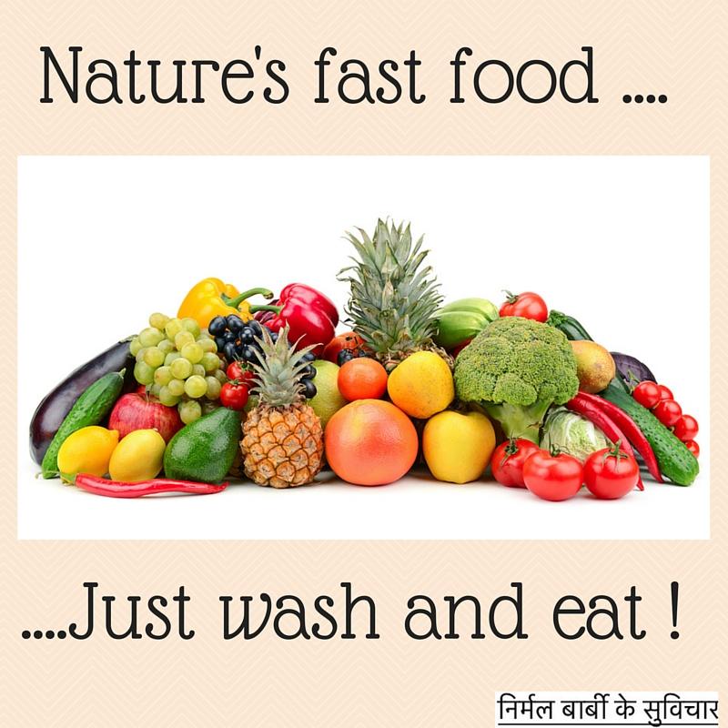 Fruits and veg