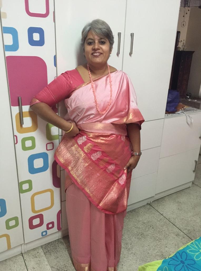pink kanchivaram