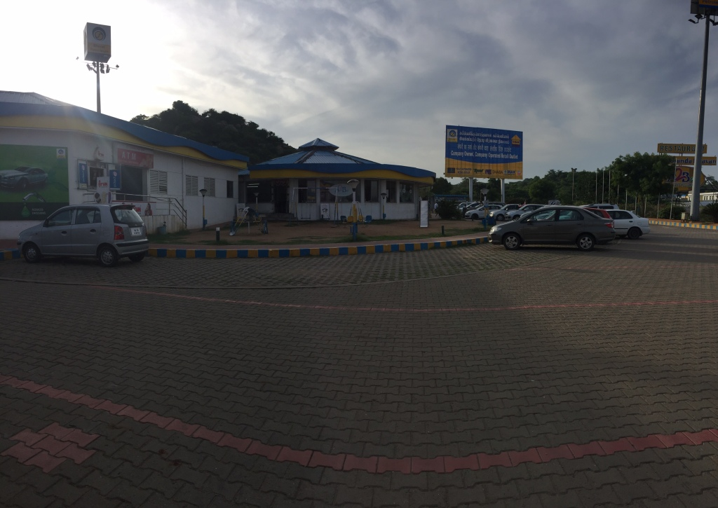 A panoramic shot of the A2B after hosur