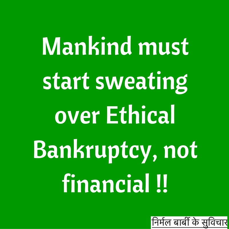 ethical bankruptcy