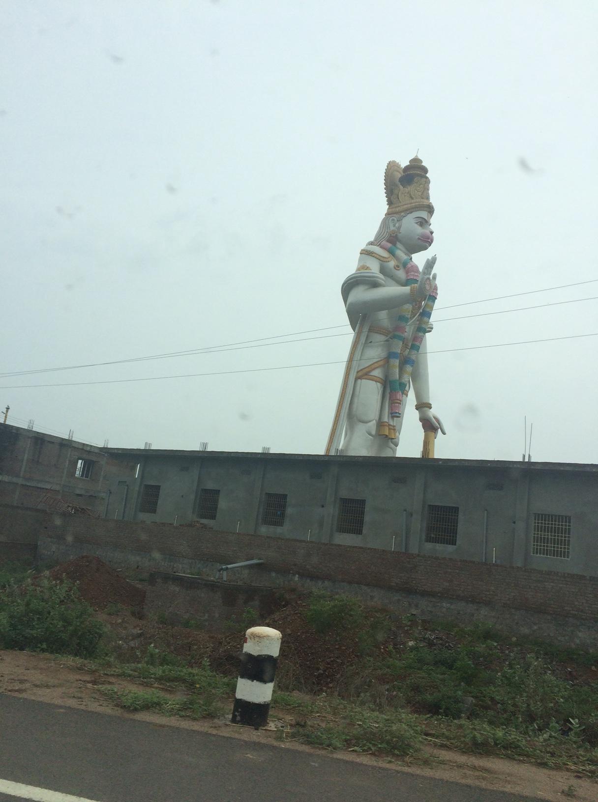 Massive Hanuman statue. This is an hour from Addanki.