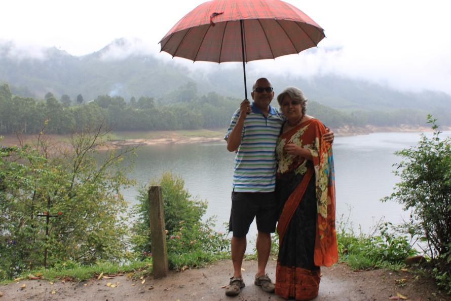 The Mattupatti dam in the background