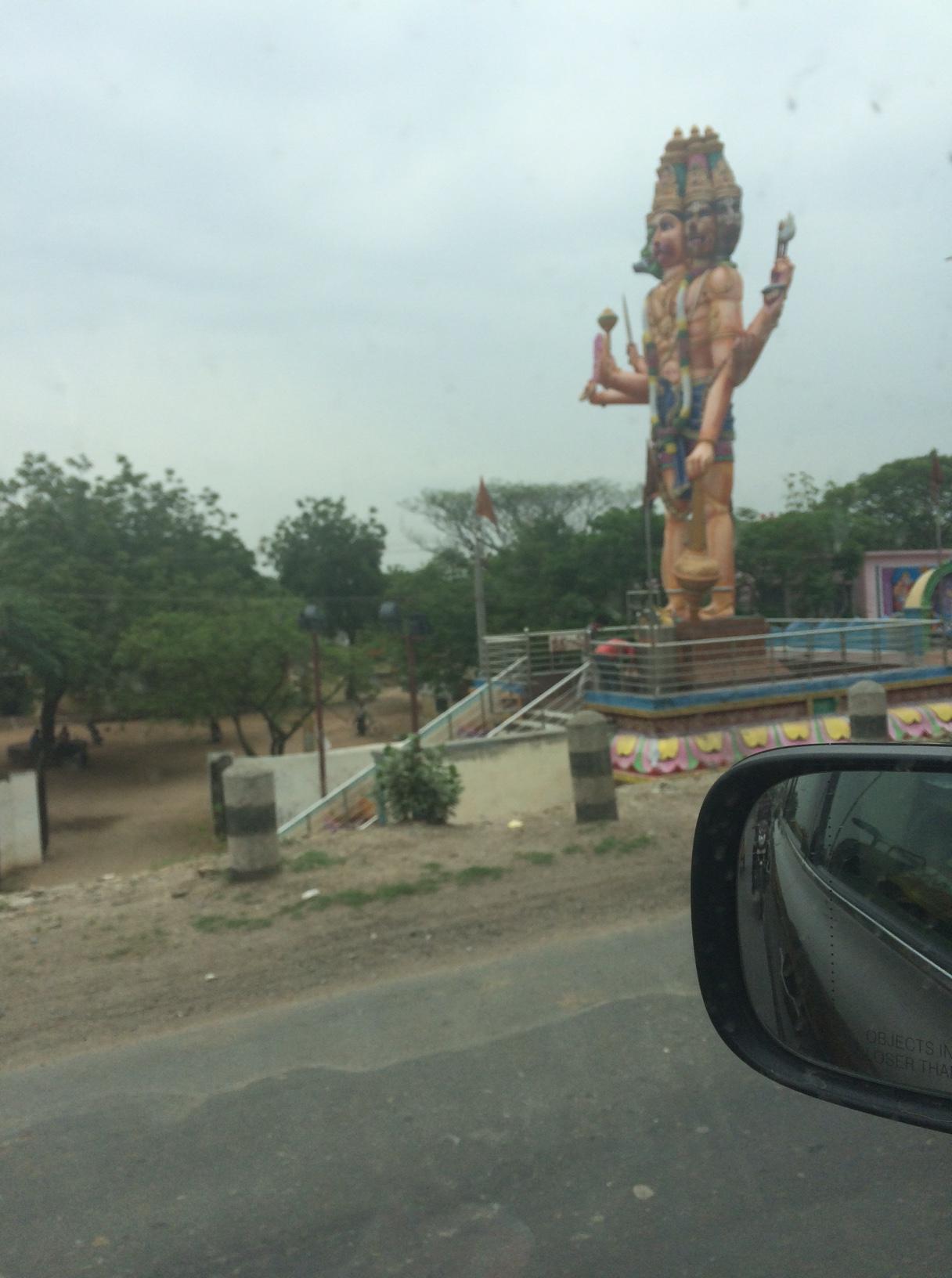 Pancha mukha Hanuman at the Addanki town