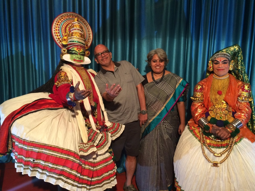 Krishnan and I with the Kathakali Stars