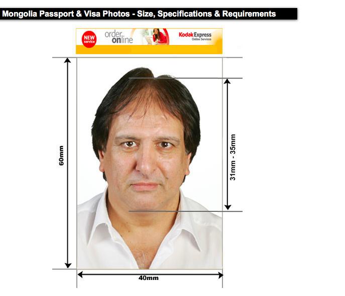 Mongolian visa photo requirements