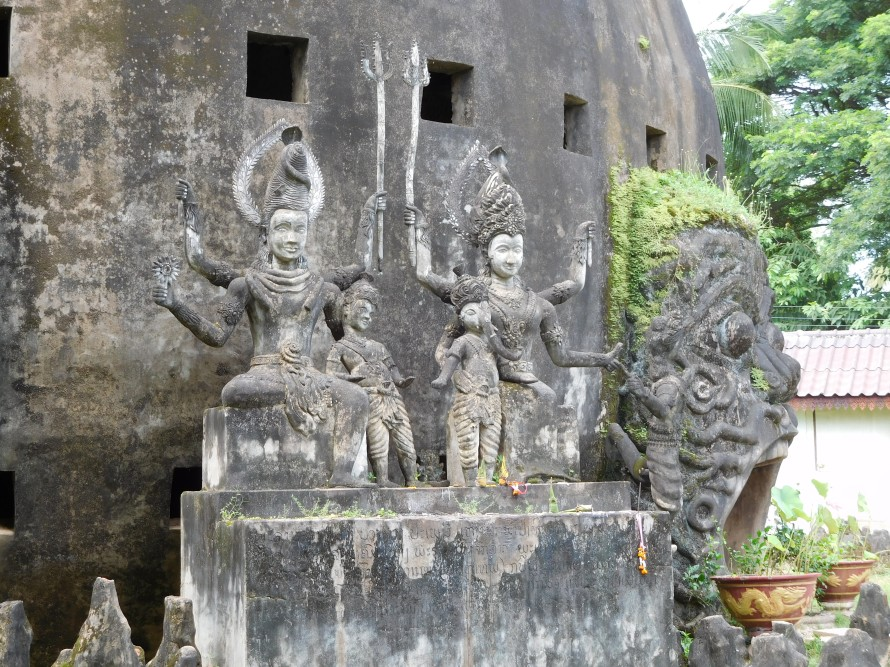 The Shiva family sculpture - Shiva, Parvati, Karthik and Ganesha.