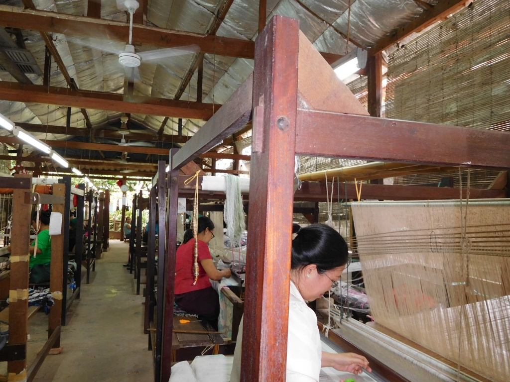 The weaving unit just behind the Lao Textile showroom