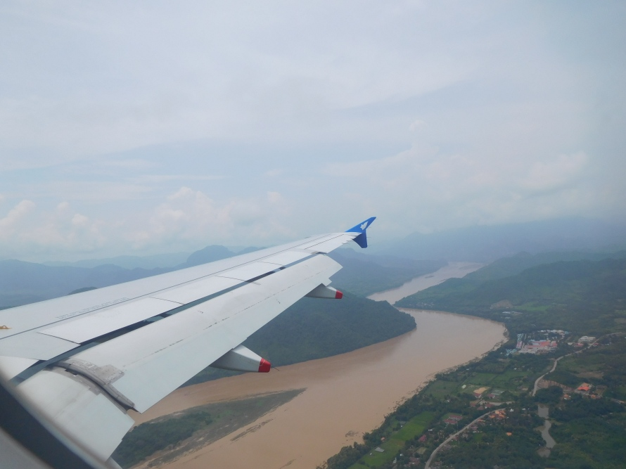 The Mekong river from the plane just before landing at Luang Prabang