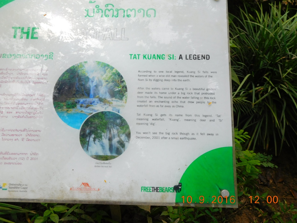 The legend behind the Kuang Si waterfall