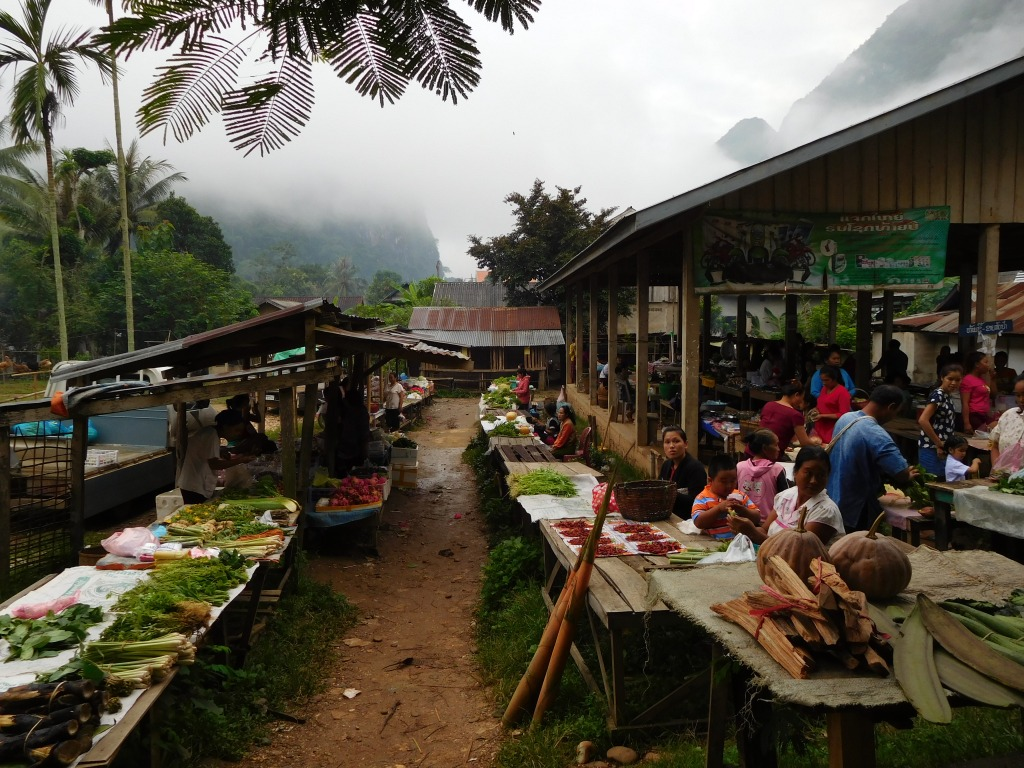The morning market at Nong Khiaw