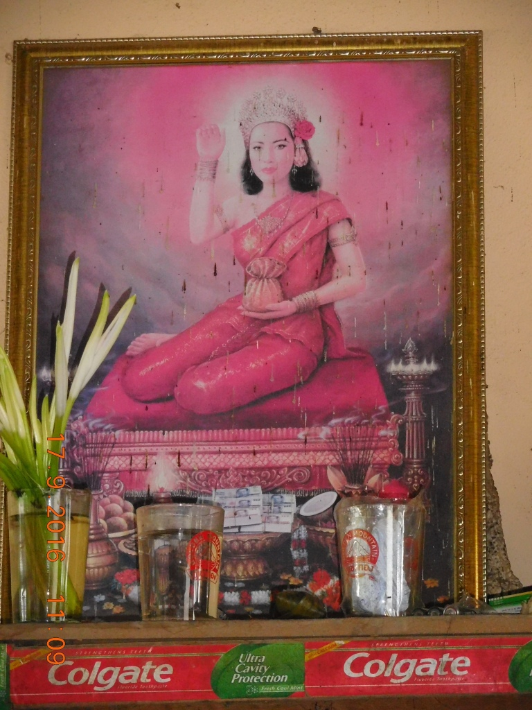 The Laos Lakshmi :) Picture at the restaurant