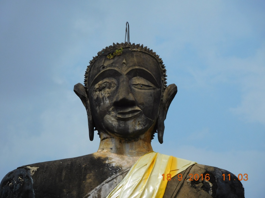 The misaligned face ... but the Buddha is the Buddha. Nothing takes away his serenity and bliss.....