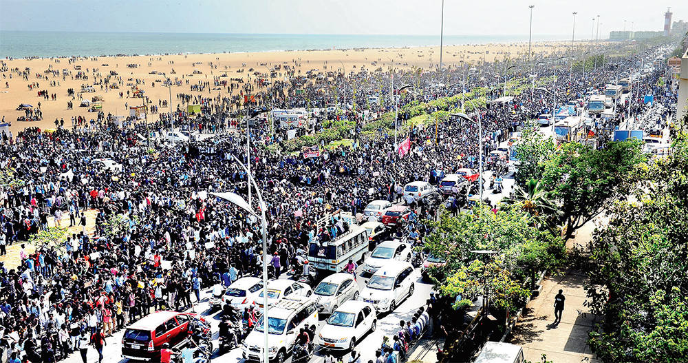 The peaceful thousands ... almost 100,000+ protesting at Marina